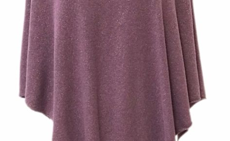 Poncho donna in cashmere e lurex