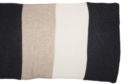 Sciarpa puro cashmere a righe, colori a scelta