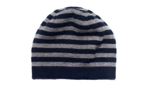 Cappello in cashmere a righe per bambini