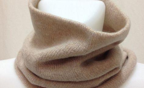 Scaldacollo in puro cashmere, colori a scelta