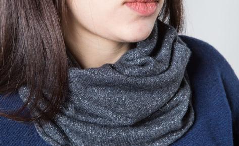 Scaldacollo misto cashmere e lurex in colori a scelta