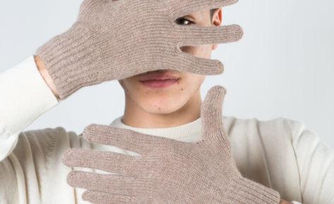 Guanti in puro cashmere